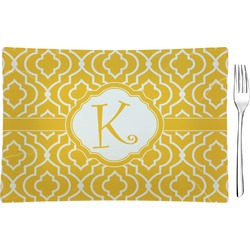 Trellis Rectangular Glass Appetizer / Dessert Plate - Single or Set (Personalized)