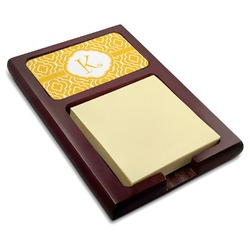 Trellis Red Mahogany Sticky Note Holder (Personalized)