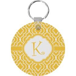 Trellis Round Keychain (Personalized)