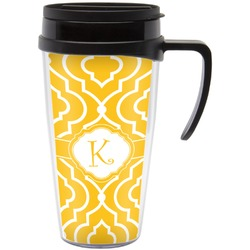 Trellis Travel Mug with Handle (Personalized)
