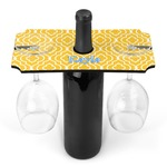 Trellis Wine Bottle & Glass Holder (Personalized)