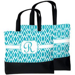 Geometric Diamond Beach Tote Bag (Personalized)