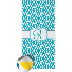 Geometric Diamond Beach Towel (Personalized)