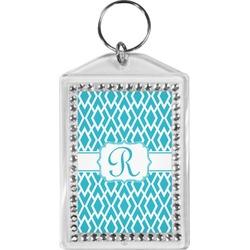 Geometric Diamond Bling Keychain (Personalized)