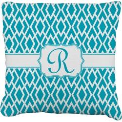 "Geometric Diamond Faux-Linen Throw Pillow 26"" (Personalized)"