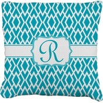 Geometric Diamond Faux-Linen Throw Pillow (Personalized)
