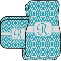 Geometric Diamond Car Floor Mats Set - 2 Front & 2 Back (Personalized)
