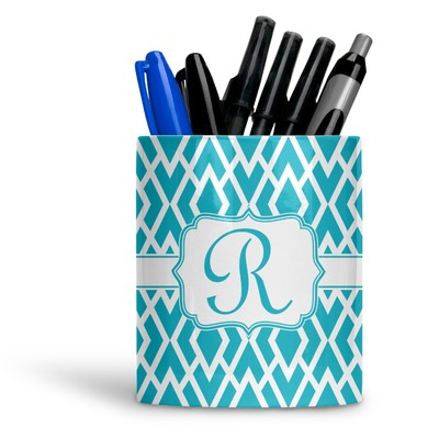 Geometric Diamond Ceramic Pen Holder