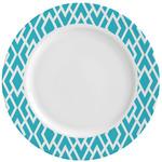 Geometric Diamond Ceramic Dinner Plates (Set of 4) (Personalized)