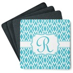 Geometric Diamond 4 Square Coasters - Rubber Backed (Personalized)