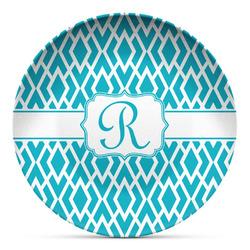 Geometric Diamond Microwave Safe Plastic Plate - Composite Polymer (Personalized)