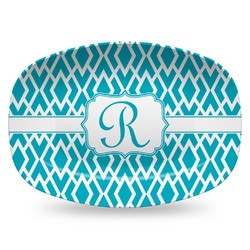 Geometric Diamond Plastic Platter - Microwave & Oven Safe Composite Polymer (Personalized)