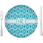 """Geometric Diamond Glass Lunch / Dinner Plates 10"""" - Single or Set (Personalized)"""