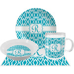 Geometric Diamond Dinner Set - 4 Pc (Personalized)