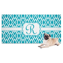 Geometric Diamond Dog Towel (Personalized)