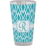 Geometric Diamond Drinking / Pint Glass (Personalized)