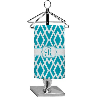 Geometric Diamond Finger Tip Towel - Full Print (Personalized)