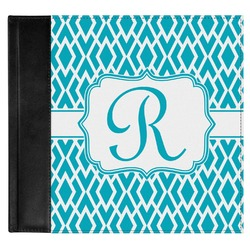 Geometric Diamond Genuine Leather Baby Memory Book (Personalized)