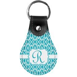 Geometric Diamond Genuine Leather  Keychain (Personalized)