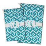 Geometric Diamond Golf Towel - Full Print w/ Initial