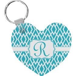 Geometric Diamond Heart Keychain (Personalized)