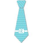 Geometric Diamond Iron On Tie - 4 Sizes w/ Initial