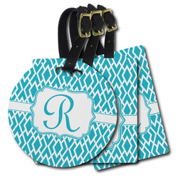 Geometric Diamond Plastic Luggage Tags (Personalized)