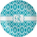 Geometric Diamond Melamine Plate (Personalized)