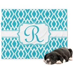 Geometric Diamond Minky Dog Blanket - Large  (Personalized)