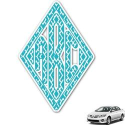 Geometric Diamond Monogram Car Decal (Personalized)