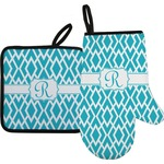 Geometric Diamond Oven Mitt & Pot Holder (Personalized)