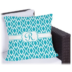 Geometric Diamond Outdoor Pillow (Personalized)