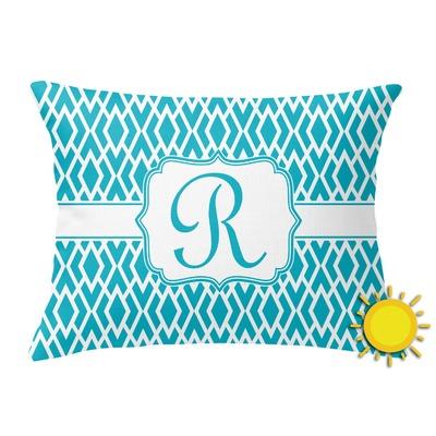 Geometric Diamond Outdoor Throw Pillow (Rectangular) (Personalized)