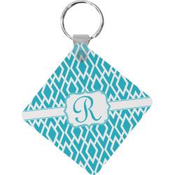 Geometric Diamond Diamond Key Chain (Personalized)