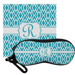 Geometric Diamond Eyeglass Case & Cloth (Personalized)