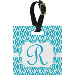 Geometric Diamond Square Luggage Tag (Personalized)
