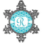 Geometric Diamond Vintage Snowflake Ornament (Personalized)