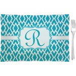 Geometric Diamond Glass Rectangular Appetizer / Dessert Plate - Single or Set (Personalized)