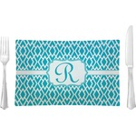 Geometric Diamond Glass Rectangular Lunch / Dinner Plate - Single or Set (Personalized)