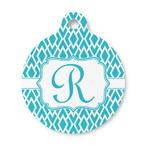 Geometric Diamond Round Pet ID Tag (Personalized)