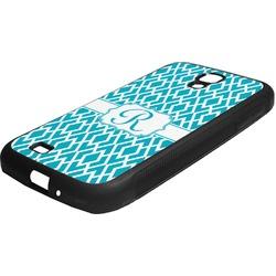 Geometric Diamond Rubber Samsung Galaxy 4 Phone Case (Personalized)