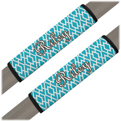 Geometric Diamond Seat Belt Covers (Set of 2) (Personalized)