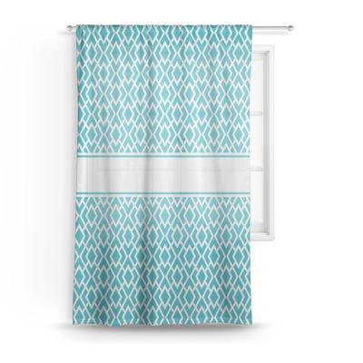 Geometric Diamond Sheer Curtains (Personalized)