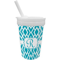 Geometric Diamond Sippy Cup with Straw (Personalized)