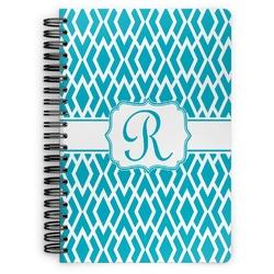 Geometric Diamond Spiral Bound Notebook (Personalized)
