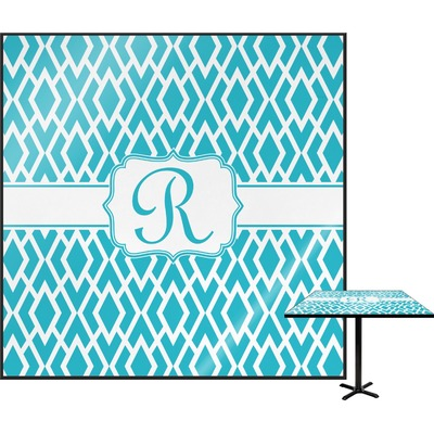 "Geometric Diamond Square Table Top - 24"" (Personalized)"