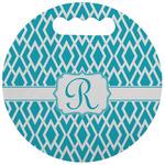 Geometric Diamond Stadium Cushion (Round) (Personalized)