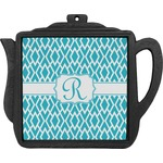 Geometric Diamond Teapot Trivet (Personalized)
