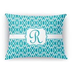 "Geometric Diamond Rectangular Throw Pillow - 18""x24"" (Personalized)"