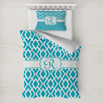 Geometric Diamond Toddler Bedding w/ Initial